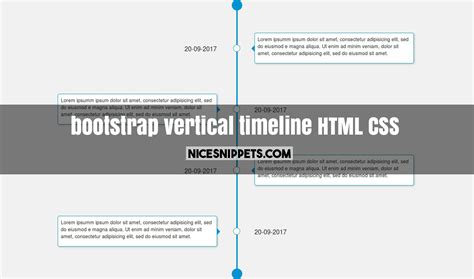 css layout vertical sle bootstrap code of timeline design using html and css