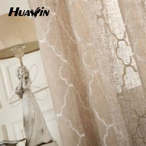 Short Bedroom Curtains linen fabric for curtains embroidery linen curtain ready