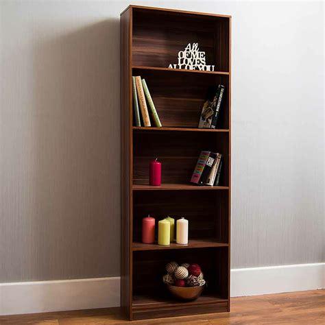 walnut  tier bookcase lounge furniture homesdirect