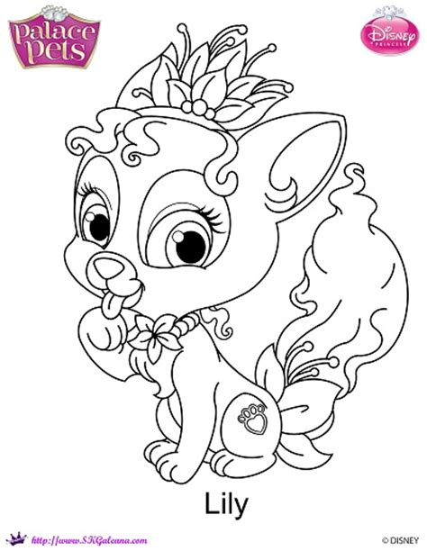 Disney Princess Palace Pets Lily Coloring Page By Disney Princess Pets Coloring Pages Free Coloring Sheets