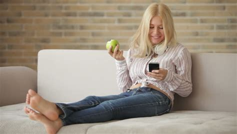 girl couch woman relaxing stock footage video shutterstock