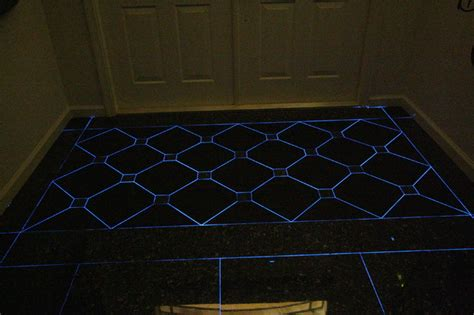 front entry foyer  glow   dark grout eclectic