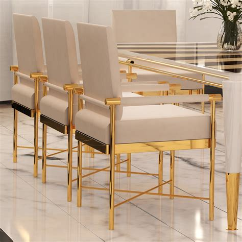 Designer Leather Dining Chairs Chic Contemporary Leather Designer Polished Brass Dining Chair Juliettes Interiors