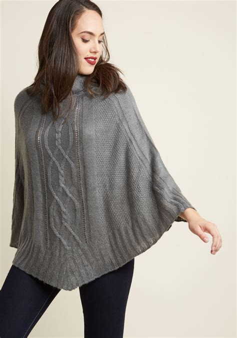 cable knit poncho cable knit cowl neck poncho modcloth