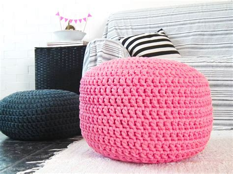 bright pink ottoman pouf pink ottoman nursery by loopinghome