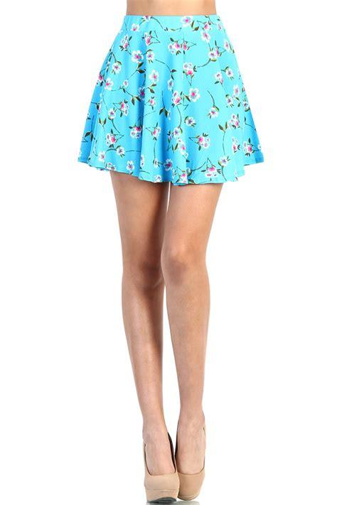 light blue skater skirt floral skater skirt light blue