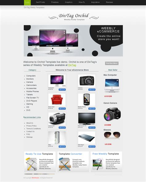 weebly themes weebly templates orchid theme divtag