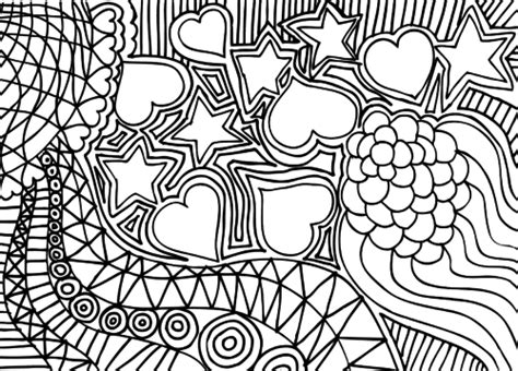 doodles coloring relaxing book take it and color wherever you go books doodle coloring page hearts and