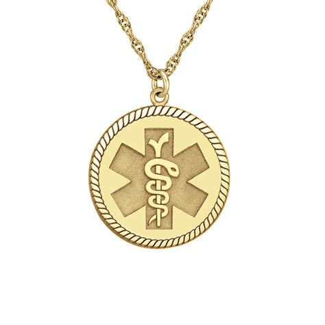 Round Medical and Health Alert Pendant 20mm Personalized Jewelry