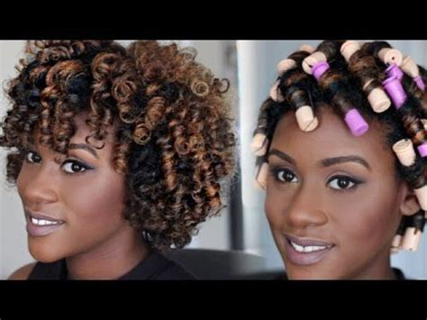 how to sleep after a perm natural hair tutorial perm rod set video perm rod set