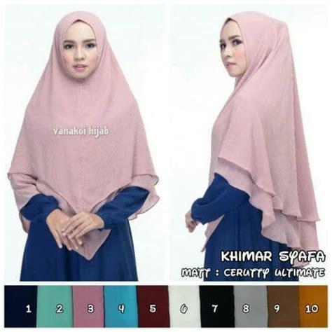 Jilbab Katun Premium Rawis jual square saudia krd tierack motif baru jilbab