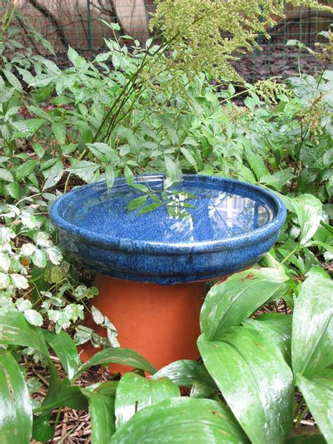 terra cotta pots   easy bird bath   garden
