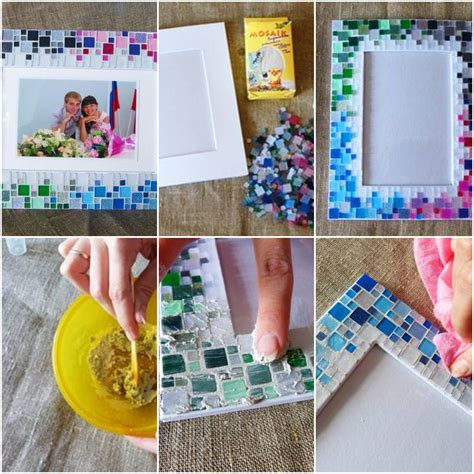 How To Make A Handmade Photo Collage - how to make colorful mosaic picture collage photoframe