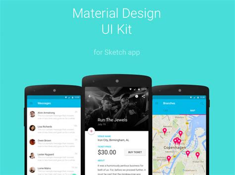 material design app kit 20 latest best free mobile apps ui psd designs 01 15