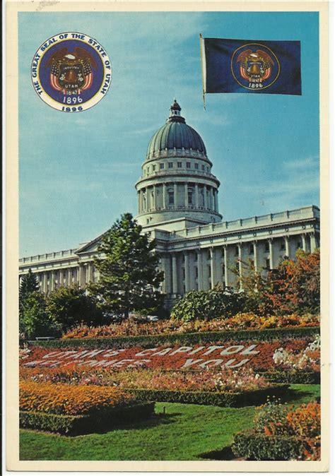 utah state colors utah state capitol salt lake city vintage original