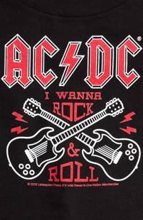 sourpuss ac dc rock n roll kids tee sourpuss clothing