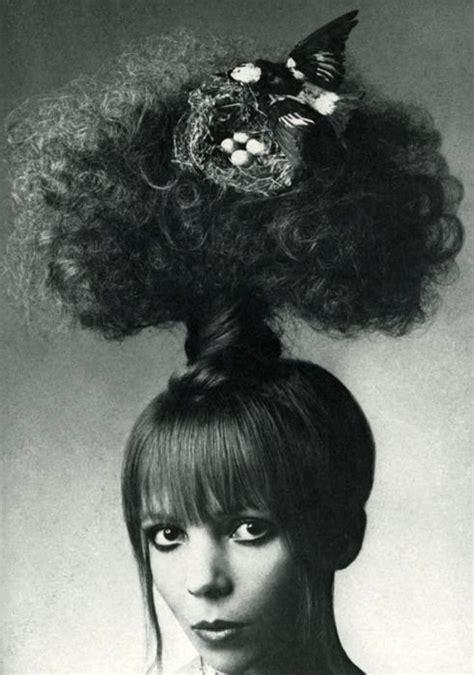 parrot hairstyle mushroom cloud hair with a bird s nest glam pinterest