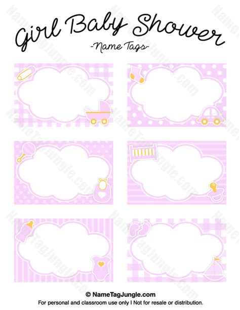 printable label templates for baby shower free printable girl baby shower name tags the template
