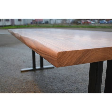 Dining Table Steel Legs Walnut Dining Table With Steel Pedestal Legs By Boxcar Notonthehighstreet