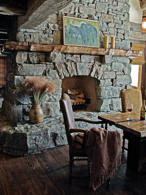 Rustic Dining Room Fireplace Country Dining Room Photos Hgtv