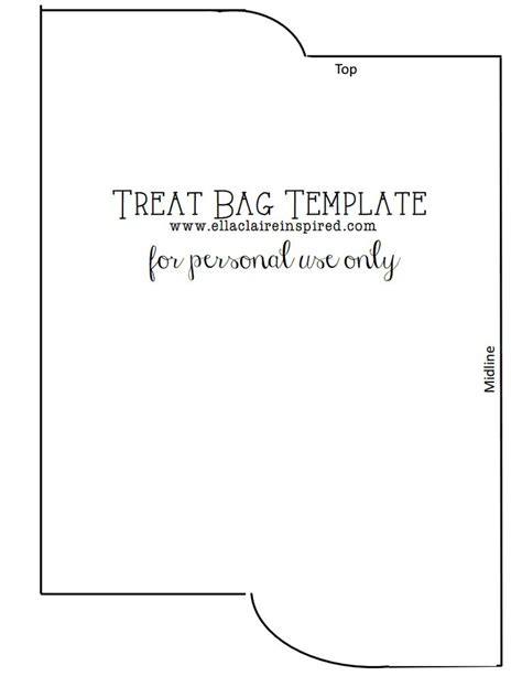 treat bag template treat bag templates pdf drive ideas