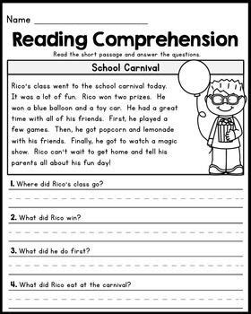 the best seat in second grade comprehension questions 101 best 1st grade reading comprehension passages images