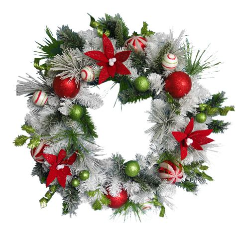 Lighted Wreaths For Outdoors Lowes Shop Living 30 In Pre Lit Douglas Fir Indoor Outdoor Artificial Wreath With