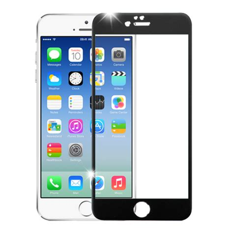 Tempered Glass Curved Edge For Iphone 6 6s for iphone 6 6s 3d curved edge titanium alloy tempered glass screen protector