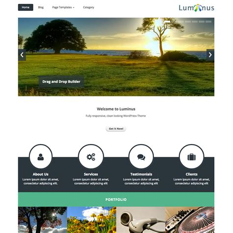 wordpress themes karma free luminus free responsive wordpress theme