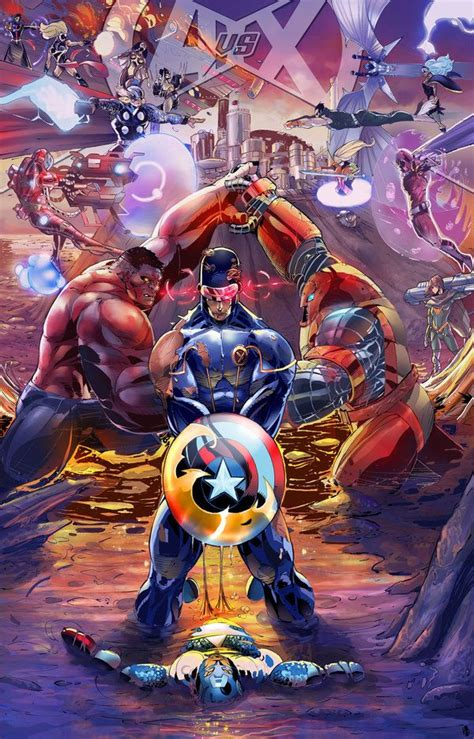 libro avengers versus x men avengers vs xmen fraking epic i mean marvel would win wolverine will put up a hell of