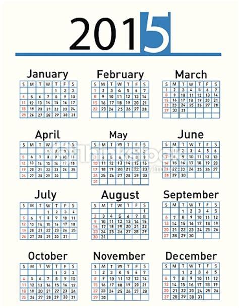 Calendario Ist 2015 Einfache Kalender 2015 Jahr Vektorgrafik Thinkstock