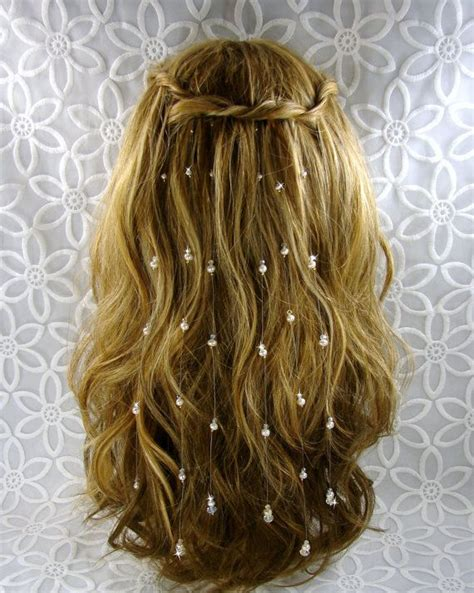 hair extensions for wedding 6 extra sparkly swarovski 174 crystal hair extensions pearl