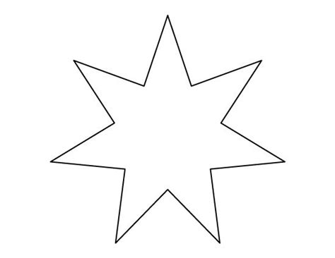 printable star a4 seven pointed star pattern use the printable outline for
