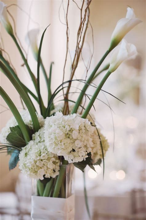 white hydrangea wedding centerpiece elizabeth anne