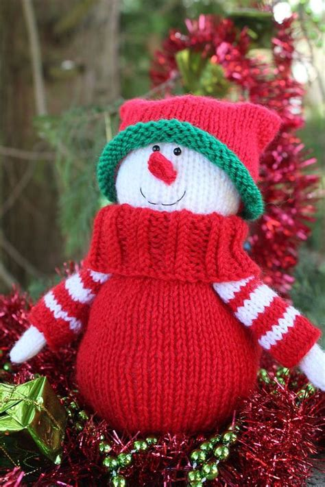 knitted snowman snowman knitting pattern