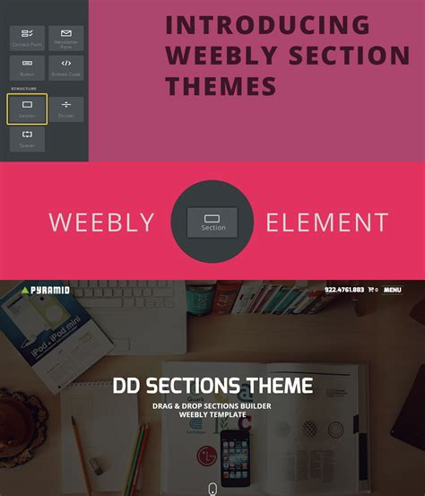 weebly section element supported templates section themes