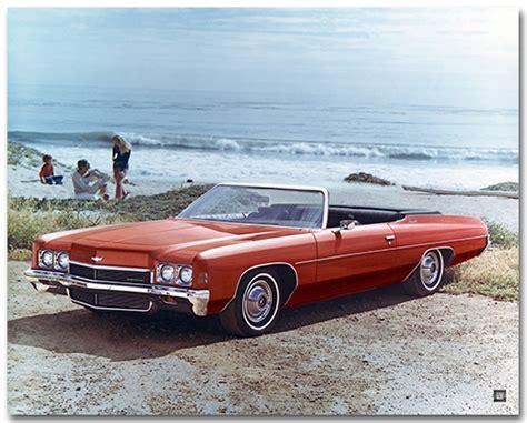 poster impala chevrolet impala 1972 convertible poster chevymall