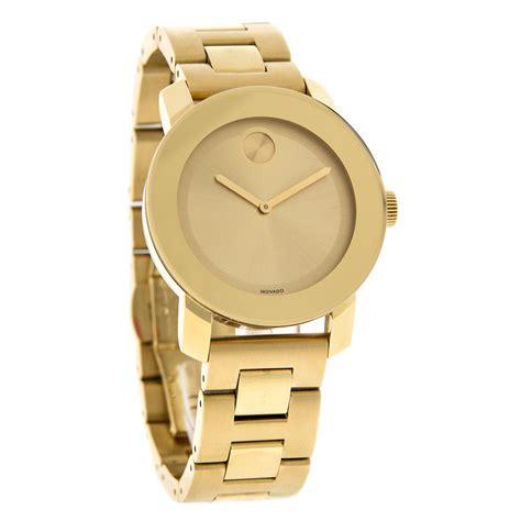 movado bold gold tone bracelet swiss quartz