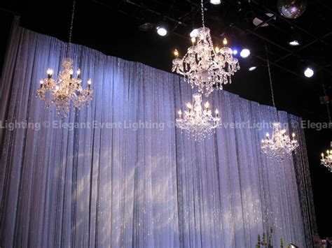 Wedding Backdrop With Chandelier by Highlight Of The Week Chandeliers Event
