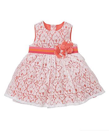 Mothercare Dress mothercare coral lace dress