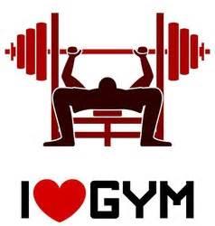 imagenes i love gym red love heart royalty free vector image vectorstock