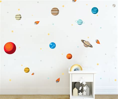 solar system bedroom decor quot for jordan my little solar system wall decal your decal shop nz designer