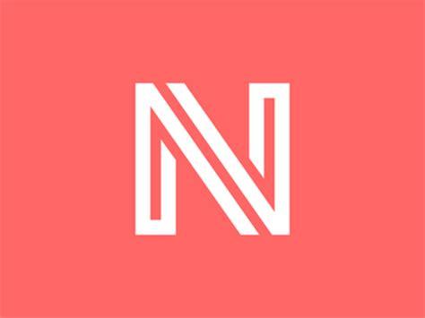 stylization of the letter n by vladislav nikonov dribbble