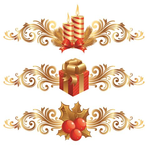 home design christmas design elements vector free vector