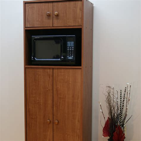 microwave pantry cabinet with microwave insert at hayneedle