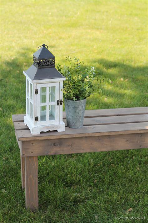 easy diy outdoor bench love grows wild