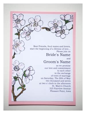 Cherry Blossom Wedding Invitation Template Cherry Blossom Invitation Template