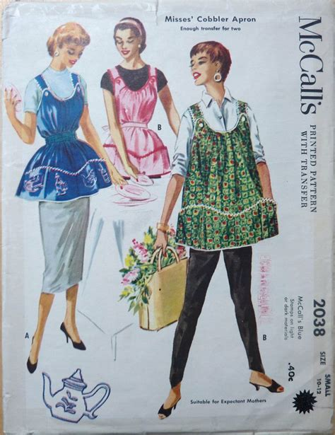 pattern cobbler apron vintage cobbler apron sewing pattern mccall s 2038 with