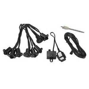 Low Voltage Outdoor Deck Lighting Kits Allen Roth 8 Light Black Low Voltage Led Deck Light Kit Lowe S Canada