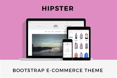bootstrap themes retro hipster e commerce theme free bootstrap templates